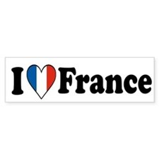 I Love France Bumper Bumper Sticker