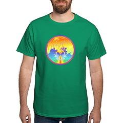 Sunset Healing OM Mandala Dark T-Shirt