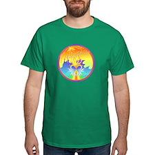 Sunset Healing OM Mandala T-Shirt