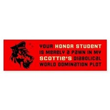Scottie World Domination Bumper Bumper Sticker