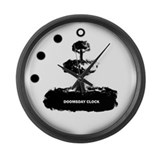 Cute Zombie appocalypse Large Wall Clock
