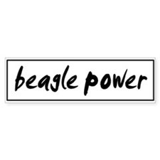 Beagle POWER Bumper Bumper Sticker