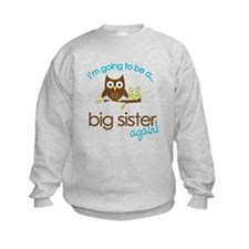 i'm going to be a big sister owl shirt Sweatshirt