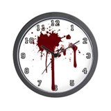 Bloody Numbered Wall Clock