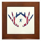 PATRIOTIC BOWHUNTER - Framed Tile