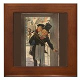 Dickens Christmas Carol Art Framed Tile