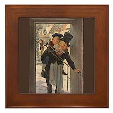 Dickens Christmas Carol Art Framed Tile