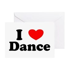 I Love Dance Valentine Greeting Card