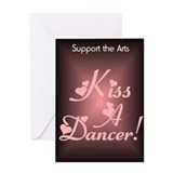 Kiss A Dancer Valentine Greeting Card