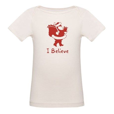 I Believe In Santa Organic Baby T-Shirt