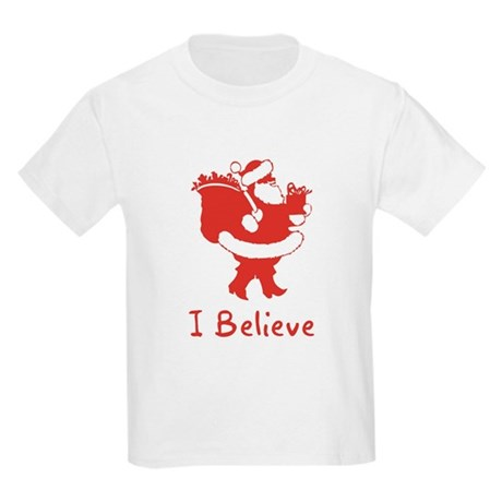 I Believe In Santa Kids Light T-Shirt