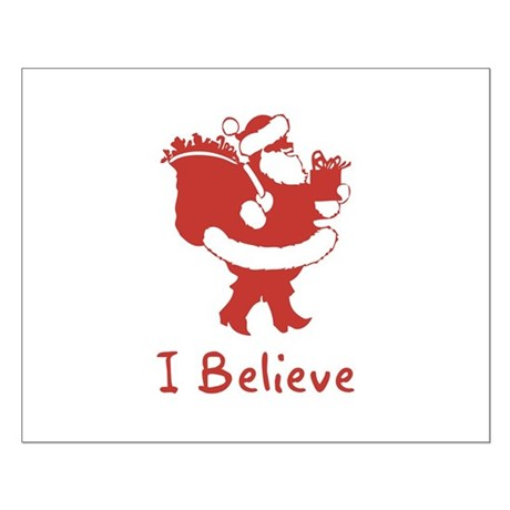 I Believe In Santa Small Poster