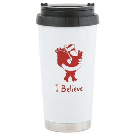 I Believe In Santa Ceramic Travel Mug