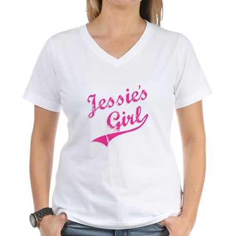 Jessie's Girl Womens V-Neck T-Shirt