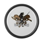 Werewolf Women Large Wall Clock