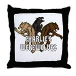 Werewolf Women Throw Pillow