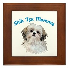 Shih Tzu Mommy Framed Tile
