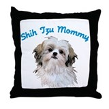 Shih Tzu Mommy Throw Pillow