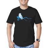 Owl on Branch (Blue) T