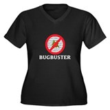 Bug Buster Women's Plus Size V-Neck Dark T-Shirt