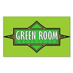 Green Room Rectangle Sticker