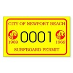 Newport Surfboard Permit 69' Rectangle Sticker