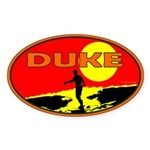 Duke Oval Sticker