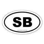 SURFCITY EURO SB Oval Sticker