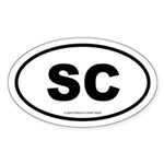 SURFCITY EURO SC Oval Sticker