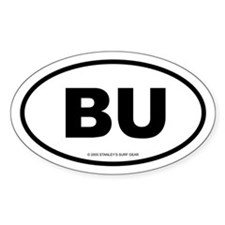 SURFCITY EURO BU Oval Decal