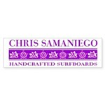 Samaniego Surfboards Bumper Sticker