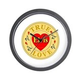 Elvis True Love Golden Seal Wall Clock