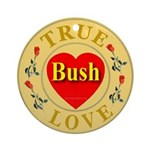Bush True Love Golden Seal Ornament (Round)