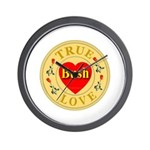 Bush True Love Golden Seal Wall Clock