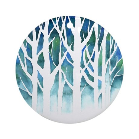 Winter Silhouette Ornament (Round)
