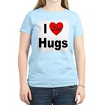 I Love Hugs (Front) Women's Pink T-Shirt