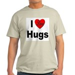 I Love Hugs Ash Grey T-Shirt