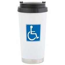 Handicapped Sign Travel Mug
