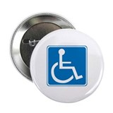 "Handicapped Sign 2.25"" Button (10 pack)"