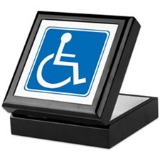 Handicapped Sign Keepsake Box