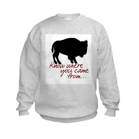 Know where you came from Kids Sweatshirt