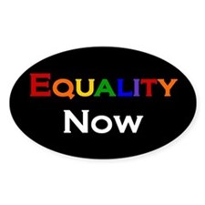 Equality Now Oval Decal