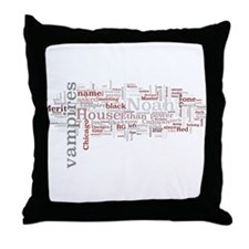 Chicagoland Vampires Word Art Throw Pillow