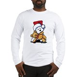 Teddybear Santa Westie Long Sleeve T-Shirt