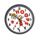 Hoops Basketball Wall Clock