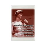 Vitale Michelangelo Quote Rectangle Magnet (10 pac