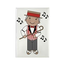 Little Barbershop Singer Rectangle Magnet