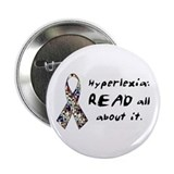 "Hyperlexia, READ all about it 2.25"" Button (10 pac"