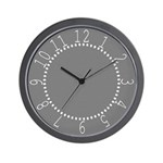 Dark Gray Linen Look Wall Clock