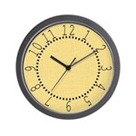 Yellow Linen Look Wall Clock